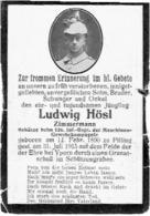 Ludwig HÖSL - Gevallen Bij IEPER 1915 - Schütze 126.Inf.-Reg. Maschinen-Gewehrkomp. - 1914-18