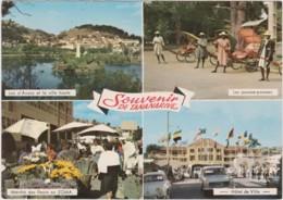 Bn - CPM Souvenir De TANANARIVE - Lac D'Anosy, Pousses-pousses, Marché Des Fleurs Au ZOMA, Hôtel De Ville - Madagascar