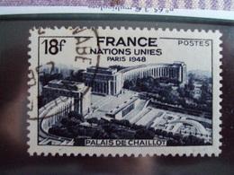 """1945-1949-timbre Oblitéré N°819       """" Palais De Chaillot     """"     Cote    0.65    Net     0.20 - France"""