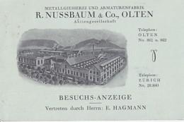 OLTEN      R NUSSBAUM & CO   BESUCHS ANZEIGE - SO Solothurn