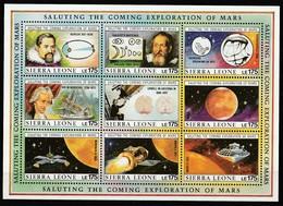 SIERRA LEONE - N°1101/9 **  (1990) - ESPACE- Space Exploration - Space