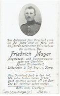 Friedrich MAYER - Begraven CONSENVOYE (F) - Soldat 3. Inf.-Regt., 1. Komp. - 1916 - 1914-18