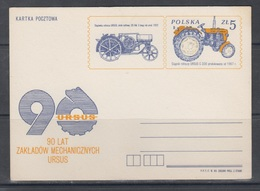 Poland 1983 Tractor Ursus - Stamped Stationery
