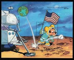 LESOTHO - BLOC N°32 ** - ESPACE- Mickey (W.Disney) - Africa
