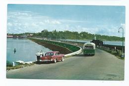 Malaysia Postcard Johore Causeway. Steam Engine - Malaysia