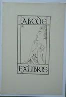 Ex-libris Illustré Belgique XXème -  Sigle ABCDE (Association Belge Des Collectionneurs D'Ex-Libris- Femme Aux Seins Nus - Ex-libris