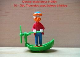 """Kinder 1989 : Géo Trouvetou Avec Bateau à Hélice """"Donald Explorateur"""" - Dessins Animés"""