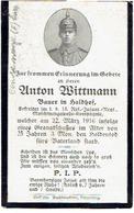 Anton WITTMANN - Begraven CONSEVOYE (F) - Gefreiter 13.Res.-Infant.-Regt, Maschinengewehr Komp. -  1916 - 1914-18