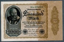 P82 Ro81b 1000 Mark 15.12.1922 UNC NEUF - 1918-1933: Weimarer Republik