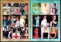 Niger 1997, Diana, Pavarotti, Red Cross, Pope J. Paul II, 2sheetlet - Singers