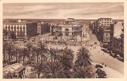 Cartolina Palermo Politeama Via E. Amari Animata Auto D'epoca - Palermo