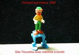 """Kinder 1989 : Géo Trouvetou Avec Machine à Bondir Bleue """"Donald Explorateur"""" - Cartoons"""