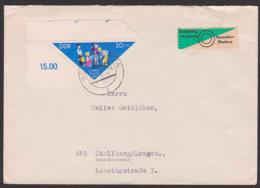 Pioniertreffen 1964 Lo. Eckrandstück 20+10 Pf. (DDR 1046) Pioniere Pflanzen Einen Baum - [6] República Democrática