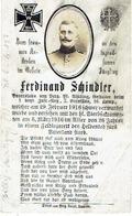 Ferdinand SCHINDLER - Begraven BILLY-MONTIGNY (F) - 6/187 - Gefreiter 1.bayr. Inf.-Reg.3.Bat.10.Komp. - 1916 - 1914-18
