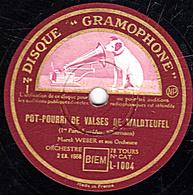 78 Trs - 30 Cm - état TB - POT-POURRI De Valses De WALDTEUFEL 1re Et 2e Parties  Marcel WEBER Et Son Ochestre - 78 T - Disques Pour Gramophone