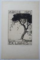 Ex-libris Illustré Belgique XXème -  Sigle ABCDE (Association Belge Des Collectionneurs D'Ex-Libris) - Arbre - Ex Libris