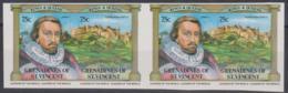 SAINT VINCENT - 1983 75c James I IMPERF Pair. Scott 281. MNH ** - St.Vincent & Grenadines