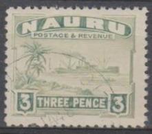 NAURU - 1947 3d Ship. Scott 22a. Used - Nauru