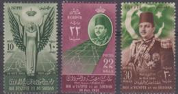 EGYPT - 1952 Treaty. Scott 296-298. MNH ** - Egypt