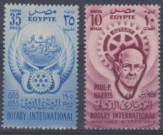 EGYPT - 1955 Rotary. Scott 378-379. MNH ** - Egypt