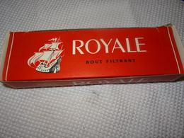 BOITE DE 200 CIGARETTES VIDE - ROYALE - BOUT FILTRANT - Cigarettes - Accessoires