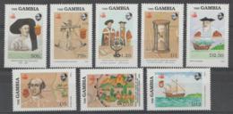 GAMBIA - 1988 Discovery Of America. Scott 788-795. MNH ** - Gambia (1965-...)