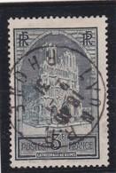 FRANCE 1930  N° 259  Oblitéré  /  CATHEDRALE DE REIMS  TYPE I  CACHET LYON RP  1931 - REF 24-24 - France
