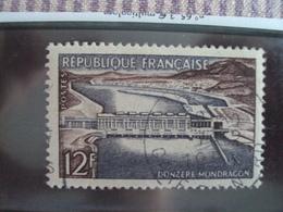 """1950-1959-timbre Oblitéré N°   1078    """"  Donzere Mondragon    """"     Cote    1.4    Net      0.45 - France"""