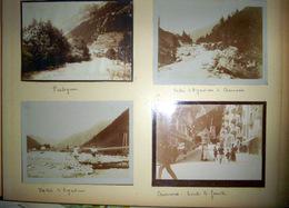 74 CHAMONIX PHOTO ORIGINALE DE LA RUE PRINCIPALE ET DE PRALOGNAN EN 1907 QUATRE CLICHES 12 X 9 Cm - Fotos