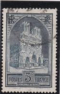 FRANCE 1930  N° 259  Oblitéré  /  CATHEDRALE DE REIMS  TYPE I   - REF 24-24 - France