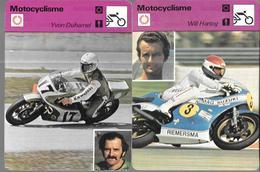GF1070 - FICHES EDITION RENCONTRE - MOTOCYCLISME - ANGEL NIETO - WILL HARTOG - YVON DUHAMEL - Sports