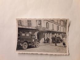 ORGINELE FOTO AFMETINGEN 8,50 CM OP 5,50 CM HONFLEUR AUBERGE DU CHEVAL BLANC 1944  2DE GEURE BRIGADE PIRON - Honfleur