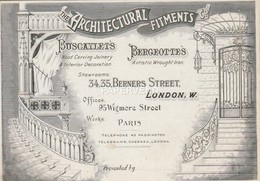 Trade Card Architectural Fitments  LONDON Etc29 - Trade Cards