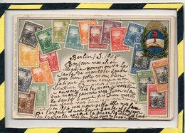 CARTE GAUFFREE . - . REPUBLICA ARGENTINA. POSTEE DE BERLIN EN 1905 - Timbres (représentations)