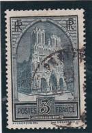 FRANCE 1930  N° 259  Oblitéré  /  CATHEDRALE DE REIMS  TYPE II   - REF 24-24 - France
