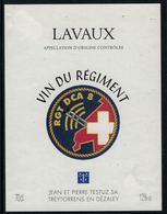 Rare //Etiquette De Vin // Militaire //  Lavaux, Vin Du Régiment RGT DCA 8 - Militaire