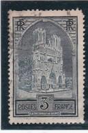 FRANCE 1930  N° 259  Oblitéré  /  CATHEDRALE DE REIMS  TYPE III   - REF 24-24 - France