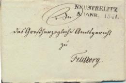 Mecklenburg-Strelitz Vorphilabrief Zweizeiler Neustrelitz 5.1.1841 - Allemagne