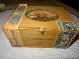 ESPAGNE - BOITE EN BOIS VIDE DE 50 CORONAS RUMBO - ELABORACION ESPECIAL - BORDEREAUX DE GARANTIE - Around Cigars