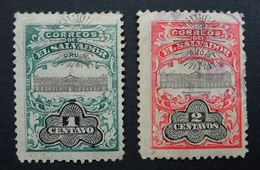 "El Salvador 1907 SC:355/356  1c/2c UPU ""National Palace"" Overprnt Used. - El Salvador"
