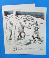 L'ours Russ E, Il Ne Faut Pas Vendre La Peau De L'ours Avant De L'avoir Pris - Lithographies