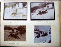 LUGES GLACE PATINAGE 12 PHOTOGRAPHIES DE SPORT ET LOISIRS D'HIVER EN 1908 12 X 9 Cm - Autres