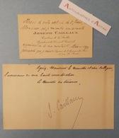 CDV 1934 Joseph CAILLAUX Sénateur De La SARTHE - Histoire Romaine - Carte De Visite Autographe - Le Mans - Autographs