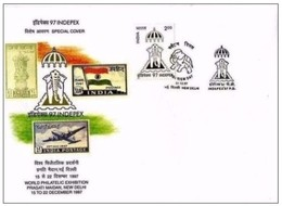 INDIA - 21 12 1997 INDEPEX  FDC  MAXI BUSTA - FDC