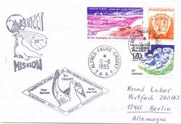TAAF 1995 MISSION ALFRED FAURE CROZET  COVER  (DICE180001) - Preservare Le Regioni Polari E Ghiacciai