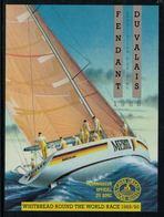 Rare //Etiquette De Vin // Bateaux à Voiles //  Fendant Du Valais Whitbread Round The World Race 1989/90 - Bateaux à Voile & Voiliers