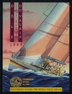 Rare //Etiquette De Vin // Bateaux à Voiles //  Dôle Du Valais Whitbread Round The World Race 1989/90 - Bateaux à Voile & Voiliers