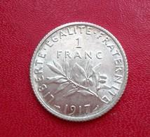1  FRANC  1917 SEMEUSE ARGENT ETAT FDC  (B1-39) - France