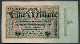 P114 Ro111a 1 Milliard Mark 05-09-1923. XF+ - [ 3] 1918-1933 : Repubblica  Di Weimar