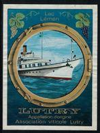 Rare //Etiquette De Vin // Bateaux  // Lutry, Lac Léman - Etiketten